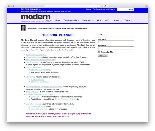 WP theme Clearly Modern - thesoulchannel.net