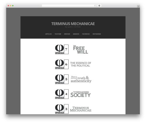 Zenzero best free WordPress theme - terminusmechanicae.com