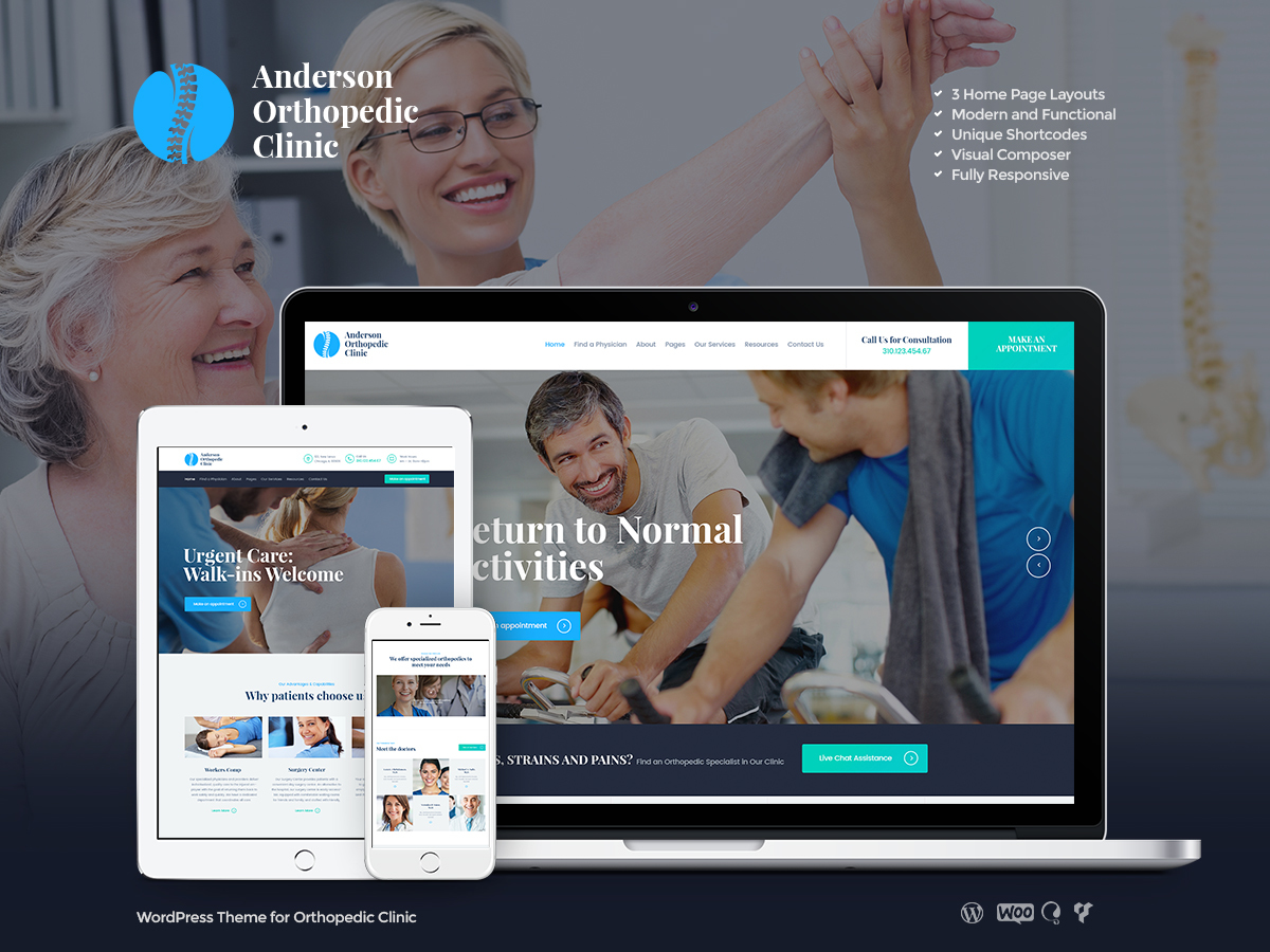 AndersonClinic WordPress blog theme