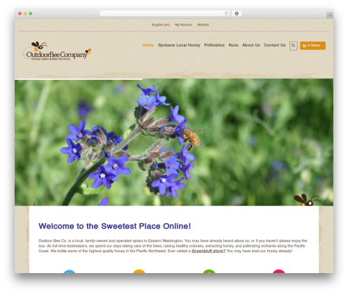 Organic Web Shop WordPress template for business - outdoorbee.com