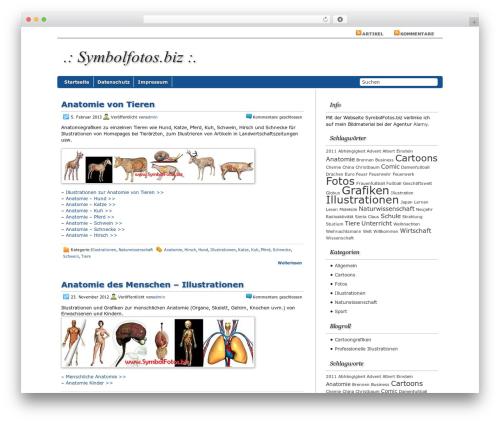 Regal WordPress theme - symbolfotos.biz
