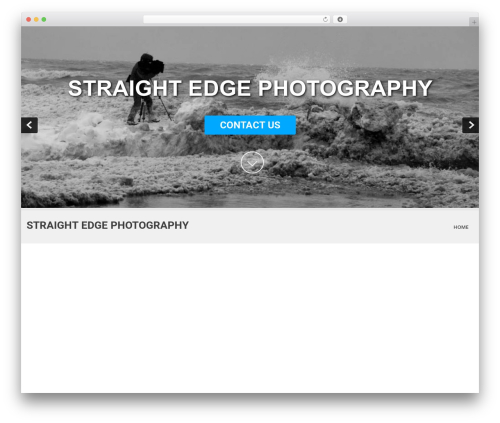SKT White WordPress theme - straightedgephotography.com