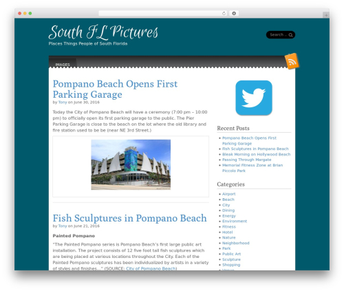 Snowblind free WP theme - southflpictures.com