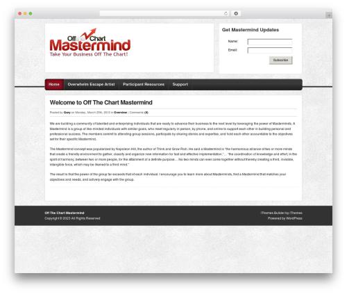 Builder WordPress theme - offthechartmastermind.com