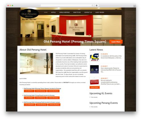 Custom Theme WordPress hotel theme - oldpenanghotel.com