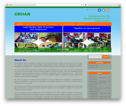 D5 Socialia WordPress page template - orhansrilanka.org