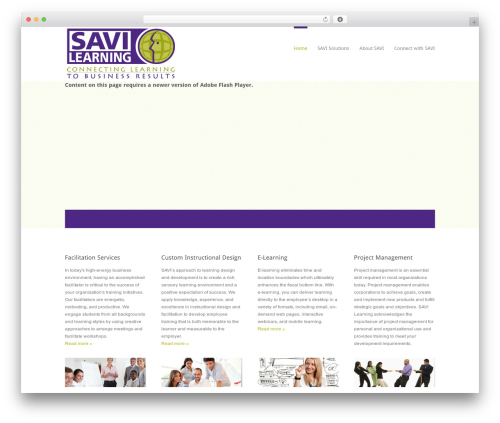 Edge free WP theme - savilearning.com