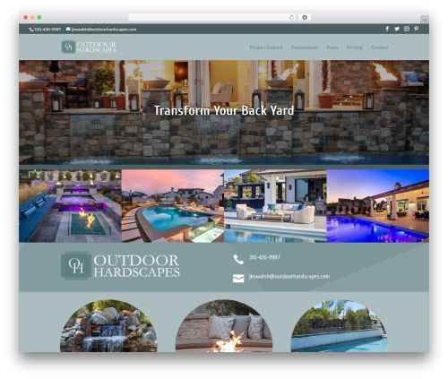 Theme WordPress Divi - outdoorhardscapes.com
