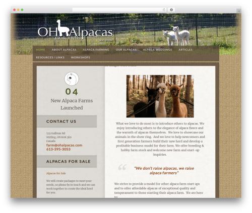 Theme WordPress Genesis - ohalpacas.com