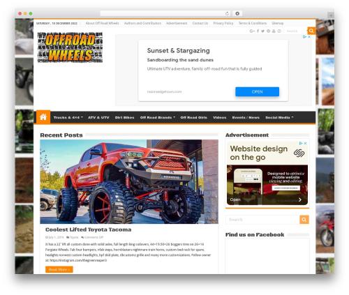 WP template Sahifa - orwheels.com
