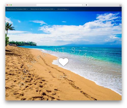 Best WordPress template Arcade Basic - oceanfrontstaymaui.com