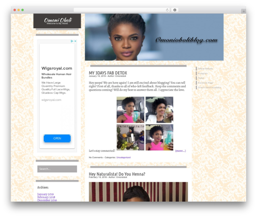 Best WordPress template Firstyme - omonioboliblog.com