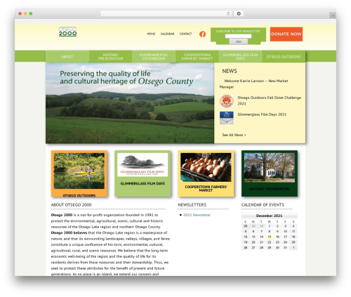 Catalyst WordPress page template - otsego2000.org