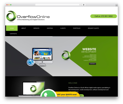cherry WordPress theme - overflowonline.co.za