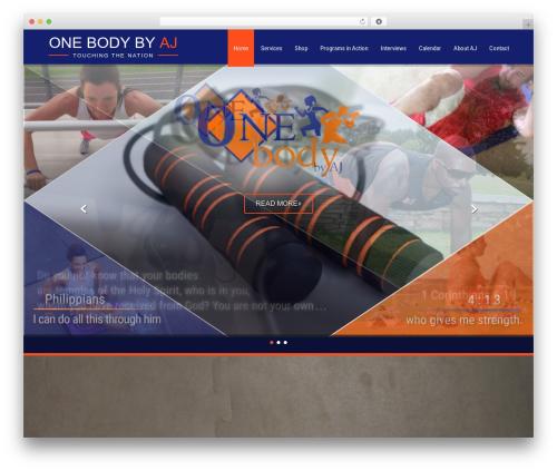 Fitness Lite WordPress template free download - onebodybyaj.com
