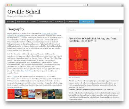 Magazine Basic template WordPress free - orvilleschell.com