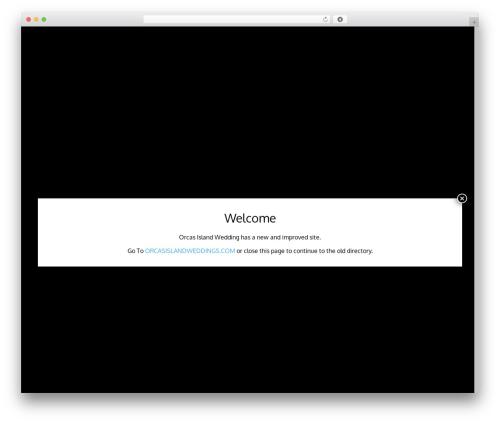 Orcas Online Ads WordPress wedding theme - orcasislandweddings.net