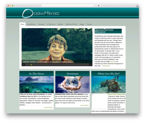 Theme WordPress Organic-NonProfit - oceanheroes.org