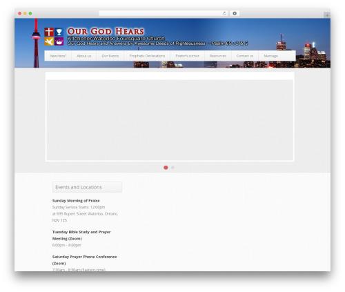 Trinity (Free Edition) best WordPress template - ourgodhears.com