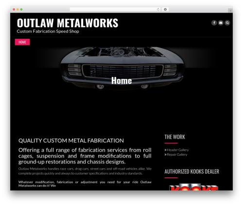 WP theme Rock N Rolla - outlawmetalworks.com