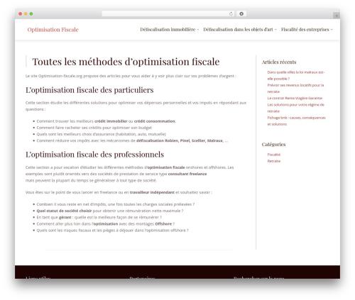Best WordPress theme LawyeriaX Lite - optimisation-fiscale.org