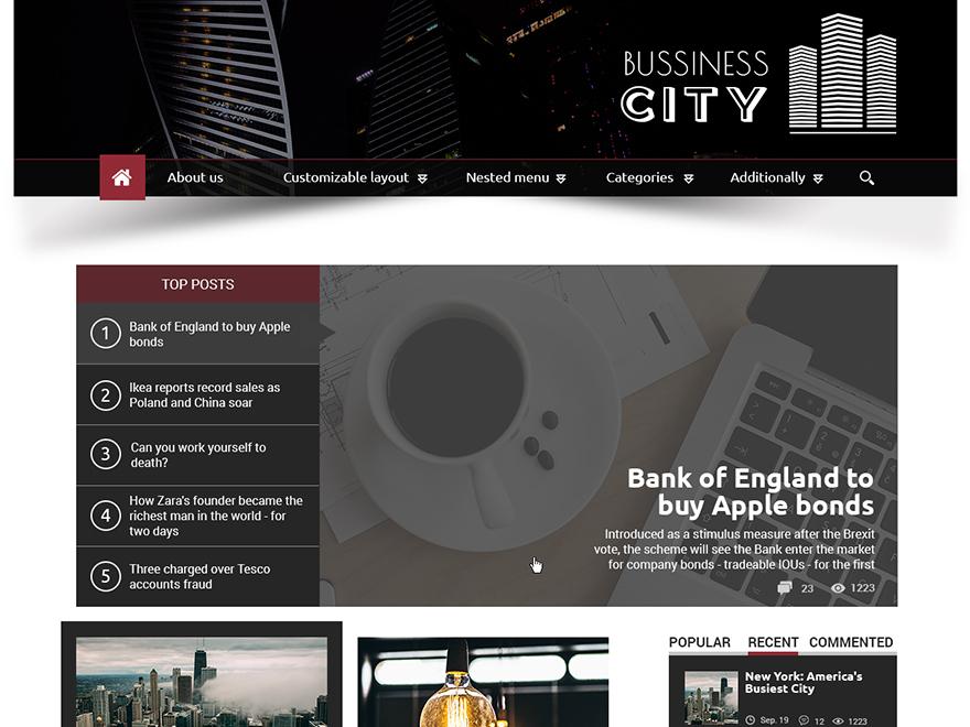 Business City WordPress news theme