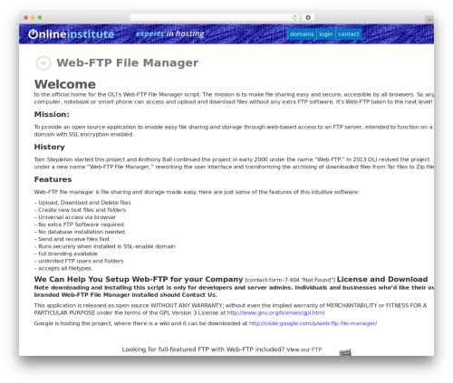 Customizr WordPress template - onlineinstitute.com/webftp.html
