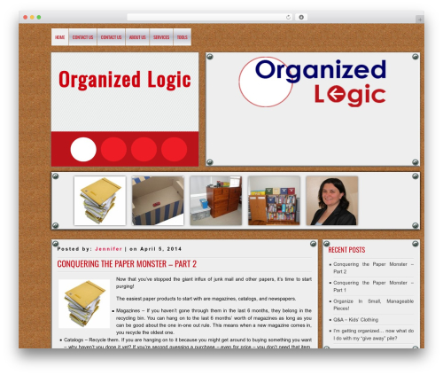 DISCUSSION WordPress template for business - organizedlogic.com