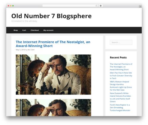GeneratePress WordPress theme - oldnumber7.com