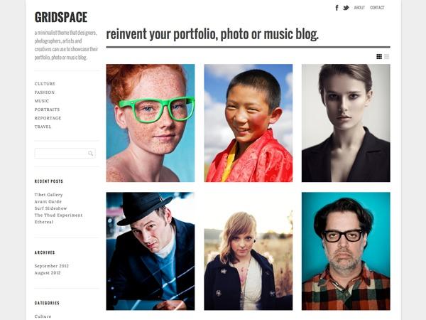 Gridspace - WordPress.com WordPress template for photographers
