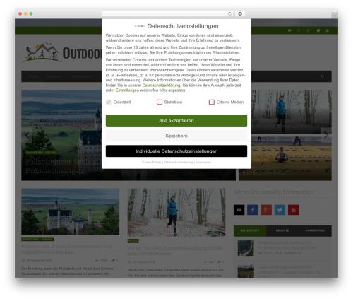 NEUE theme WordPress - outdoorsucht.de
