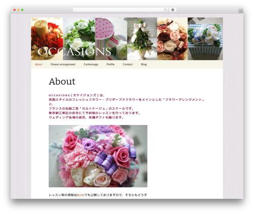 Twenty Thirteen WordPress template - occasions.jp