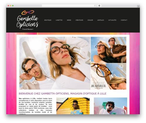 WordPress theme Auxane Opticiens - optiquegambetta.com