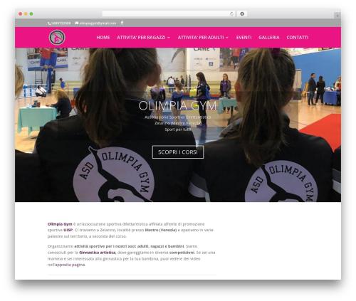 Divi gym WordPress theme - olimpiagym.org