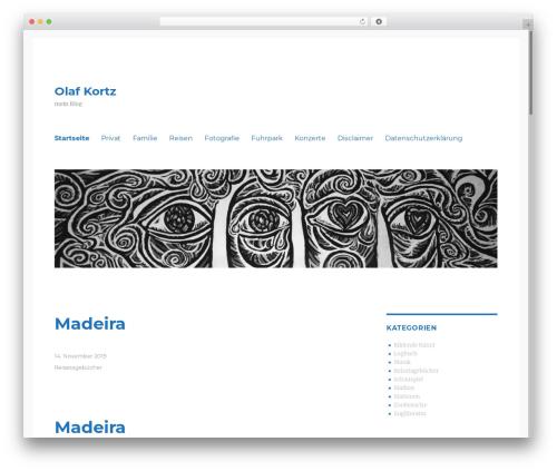 Mandigo WordPress website template - olafkortz.de