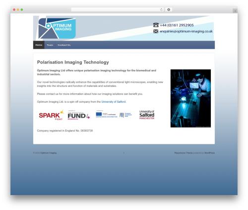 Responsive free WP theme - optimum-imaging.co.uk