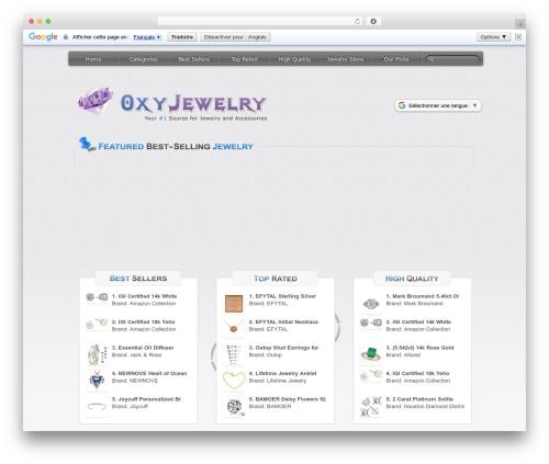 StoreClone [Light Theme] template WordPress - oxyjewelry.com
