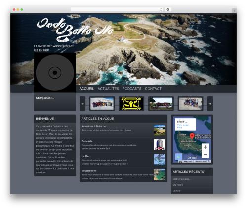 WordPress theme Soundcheck - ondebelleile.com