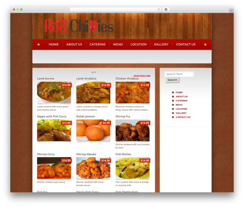 WP template Bordeaux Premium Theme - ourredchillies.com