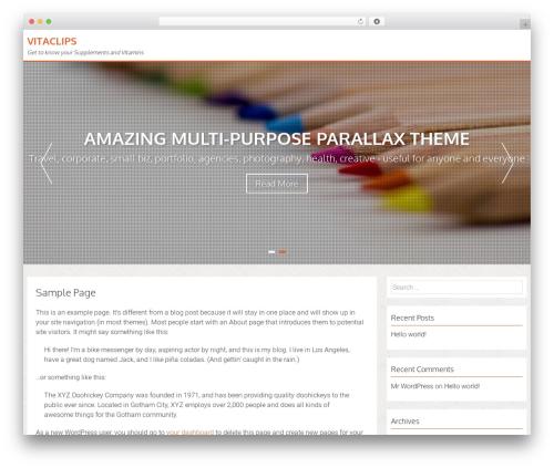 AccessPress Parallax WordPress template free download - sk8cardio.com