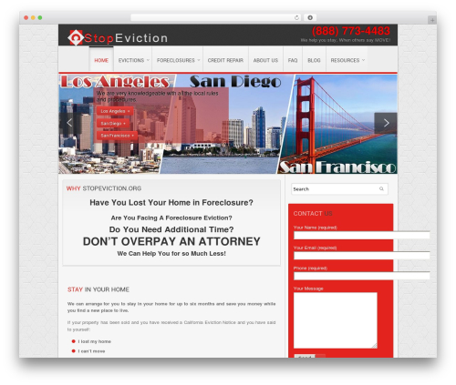 Clarion WordPress page template - stopeviction.org