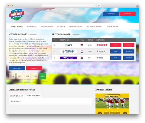 GoalKlub WordPress template - onlinewedden.nl