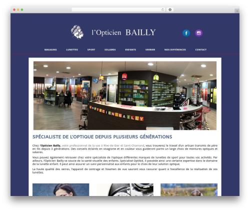 WordPress theme Auxane Opticiens - opticienbailly.com