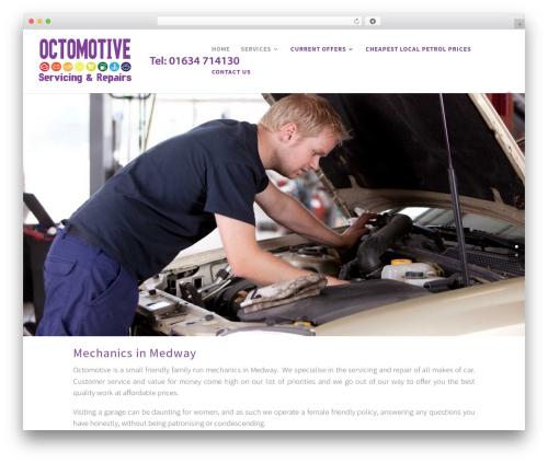 WordPress website template Divi - octomotive.co.uk