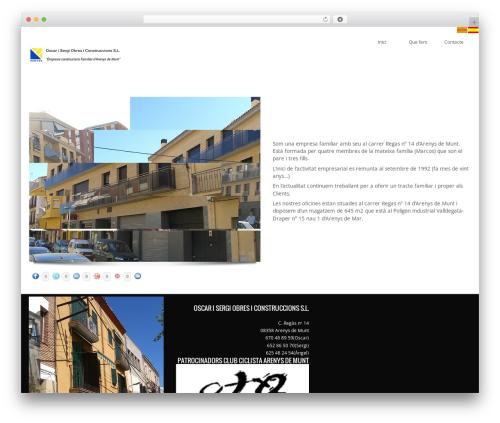 WordPress website template Kaleidoscope - oscarisergi.com