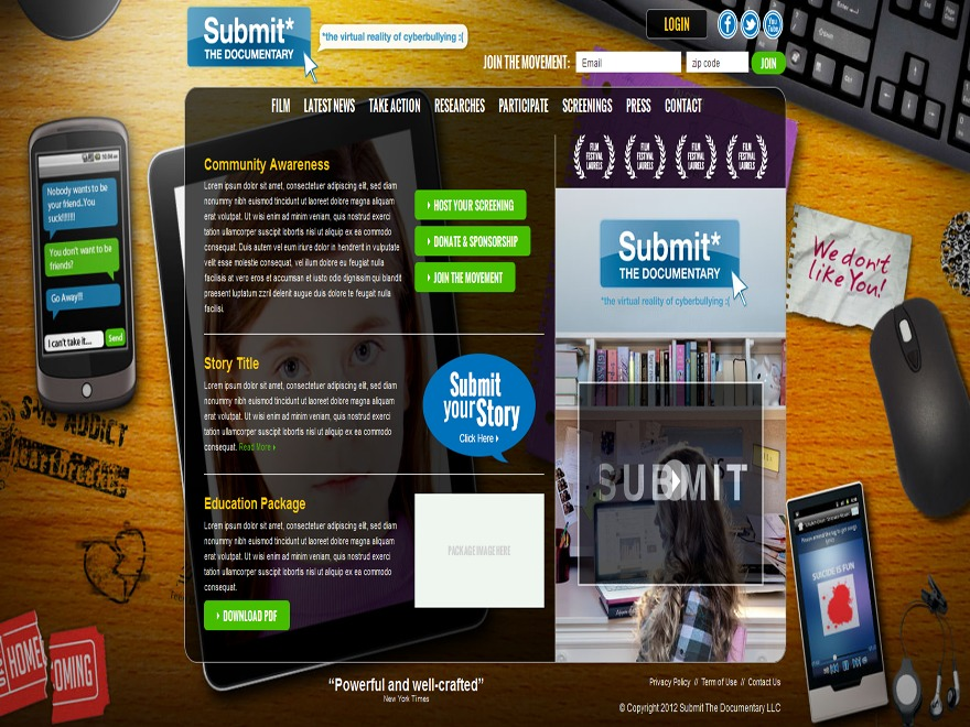 WP template SubmitTheDocumentary