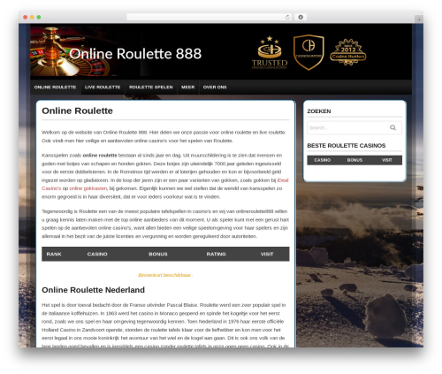 High Roller theme WordPress - onlineroulette888.com