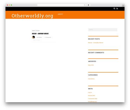Magazine WordPress magazine theme - otherworldly.org