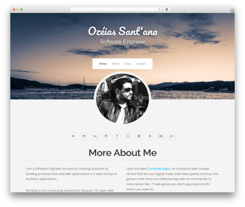 Organic Profile WordPress blog template - ozeias.com