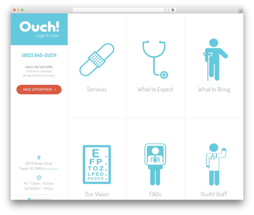 Wordpress Theme Ouch Urgent Care By Mabus Agency